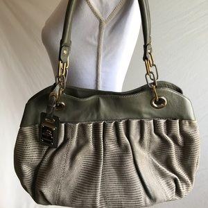 B Makowsky Handbag w/Silver, gold accents